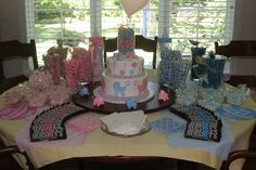 Gender Reveal Baby Shower decorations | Ideas for a Baby Shower / Gender reveal baby shower