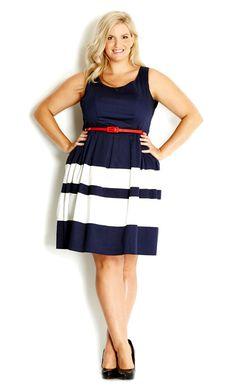 City Chic - LAND LOVER DRESS - Women's plus size fashion #citychic #citychiconline #newarrivals #plussize