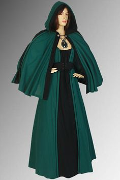 Renaissance Cloak Costume Cape Handmade 100 by YourDressmaker, $76.05