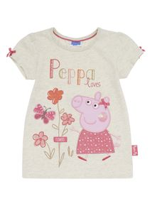 Oatmeal Peppa Pig T-Shirt months - 5 years) Pegga Pig, 5 Years, Baby Kids, Oatmeal, Girl Outfits, Character Design, Underwear, England, Children