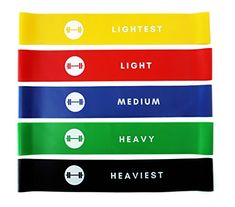 Resistance Loop Bands - Elevans Premium Exercise Bands Set of 5 for Yoga, Pilates, and Strength Training - Designed in Canada Best Resistance Bands, Resistance Loop Bands, 80 Day Obsession, Exercise Bands, Spinal Cord Injury, Strength Training, Cool Bands, Squats, Pilates