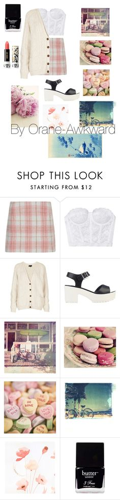 """Pastel"" by orane-awkward ❤ liked on Polyvore featuring Cameo Rose, Topshop, River Island, Polaroid, She Hit Pause Studios, Butter London and Anna Sui"