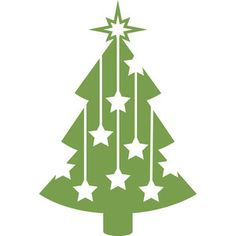 Silhouette Design Store: starry christmas tree