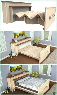 DIY Built In Roll Out Bed Plans n Instructions - DIY Space Savvy Bed Frame Design Concepts Instructions house bed frame DIY Space Saving Bed Frame Design Free Plans Instructions