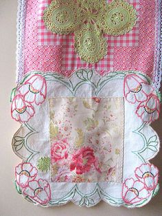 Table Runner Home Decor Embroidered Vintage by AllThingsPretty,