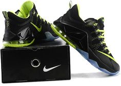 best loved 7b6f3 4f3fe Lebron 12 Low Green Black1 Nike Lebron, Cher, Air Jordans, Wedges, Sneakers