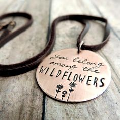 Tom Petty Jewelry - You Belong Among the Wildflowers Necklace - Song Lyrics - Flower Jewelry - Nature Jewelry - Boho Necklace I Love Jewelry, Boho Jewelry, Jewelry Shop, Jewelry Gifts, Handmade Jewelry, Jewelry Necklaces, Jewelry Design, Jewelry Making, Flower Jewelry