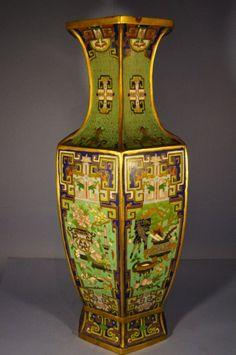 Bronze cloisonne vase, Ming Dynasty