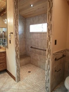 Tile Showers without Doors Tile Walk In Showers Without Doors
