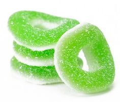 green candy!