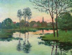 Le Prince Lointain: John Leslie Breck (1860-1899), Sunset on the River.