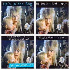 Labyrinth 1986, Labyrinth Movie, Aladdin Sane, Original Memes, The Thin White Duke, Goblin King, Major Tom, Movies Playing, Jennifer Connelly