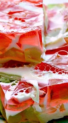 Glass Block Watermelon Jello