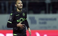 Download wallpapers Sporting Lisbon, football, Bas Dost, footballers, soccer