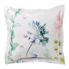 Funda de cuadrante de algodón motivos flores Gaube