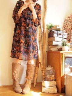 秋冬コーディネートVOL.2 エスニックボヘミアンファッション|エスニックなら通販サイトshams