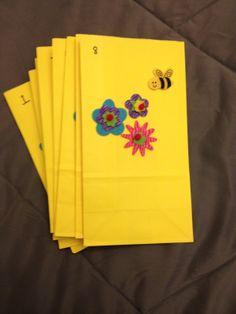 Door prize raffle ticket bags