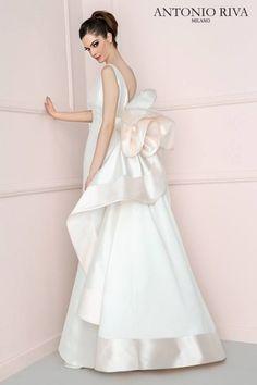 Vestito sposa bianco e rosa Antonio Riva