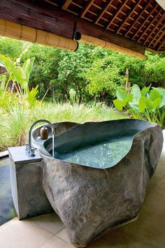 Astonishing Unique Ideas: Natural Home Decor Bathroom Tubs natural home decor living room inspiration.Natural Home Decor Diy Tutorials all natural home decor living rooms.All Natural Home Decor Interior Design. Outdoor Baths, Outdoor Bathrooms, Dream Bathrooms, Beautiful Bathrooms, Outdoor Showers, Outdoor Tub, Outdoor Stone, Luxury Bathrooms, Outside Showers