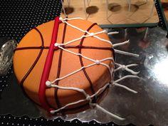 Basketball fondant cake. Basketball fondant kage.