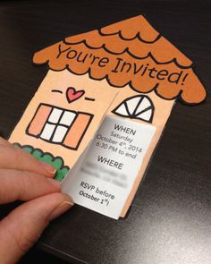 DIY + Free Template! Housewarming Invitations -------- My thoughts: easy and turned out very cute!
