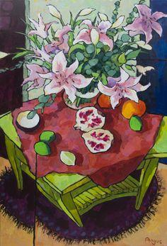 36 x 24 Angus Wilson Painting Still Life, Still Life Art, Wilson Art, Art For Art Sake, Art Challenge, Artist Art, Art Images, Flower Art, Landscape Paintings
