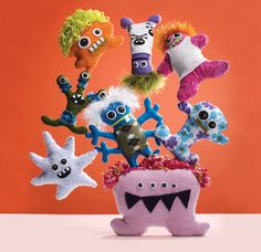 sew some cute monsters!