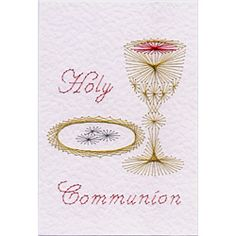 embroidery designs -- first communion | Stitching Cards Holy Communion