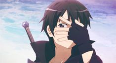 Kirito had to take a peek at those pantsu . Way to let your typical teenage boy shine through lmbo
