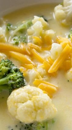 The BEST Broccoli, Cauliflower and Cheese Soup ❊