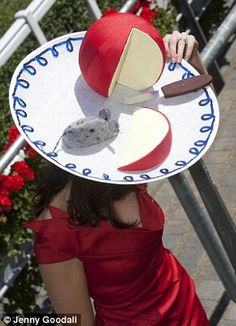 Ascot 2010. Ladies Day\n\nPicture shows : A dutch Cheese hat with a mouse.