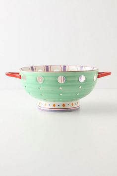 Spotty-Dotty Colander - contemporary - kitchen tools - by Anthropologie Cool Kitchen Gadgets, Cool Kitchens, Cute Kitchen, Kitchen Stuff, Kitchen Things, Kitchen Tools, Anthropologie Uk, Kitchen Collection, Pottery Making