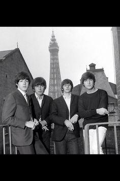 Paul McCartney, George Harrison, Richard Starkey, and John Lennon