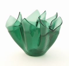 This stunning fused glass vase was made with 96 Spectrum sea green glass. Description from glassart.wordpress.com. I searched for this on bing.com/images