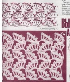 postila.ru ~ crochet stitch pattern ~ like it for scarfs
