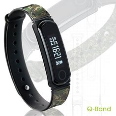 QBand EX Fitness Tracker  Q66 Watch Activity Steps Fitness Calories  Sleep Tracker Wristband  Wireless Bluetooth Synchronization with iPhone  Android Devices  Durable Battery  OLED Display * Read more  at the image link.