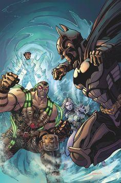 Injustice: Gods Among Us: AÑO CINCO # 3 : Killer Frost tiene Catwoman en hielo, tratando de obligarla a venir encima al lado del Régimen.  Cuando Batman viene a su rescate, Frost trae un poco de músculo a la lucha: más nuevos secuaz de Superman, Bane!  Mientras tanto, Damian tiene un encuentro decisivo con Alfred | masacre80