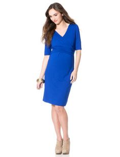 Copy Cat Kate: BOGO Redlines at Pea in the Pod, Isabella Oliver Elbow Sleeve Wrap Maternity Dress