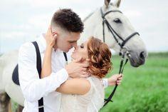 рустик, свадьба в стиле рустик, лошадка, фотосессия с лошадью