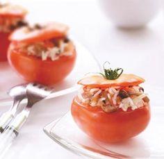 Gevulde tomaten met rijst