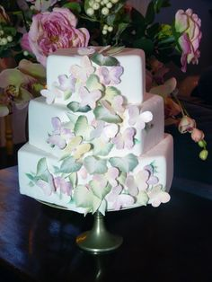 Decorative Cake Painting by Stephanie Weightman.