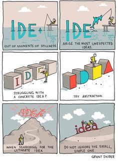 """The Shape of Ideas"" Poster sold by Incidental Comics. Shop more products from Incidental Comics on Storenvy, the home of independent small businesses all over the world. Writing Quotes, Writing Advice, Writing Prompts, Comics Sketch, Writing Inspiration, Creative Writing, Thought Provoking, Web Design, Inspirational Quotes"