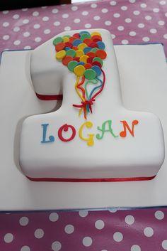 No 1 balloon cake Boys 1st Birthday Cake, 1st Birthday Parties, Birthday Ideas, Cupcakes, Cupcake Cakes, Number 1 Cake, Balloon Cake, Balloon Party, Cakes For Boys