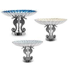Julia Knight® By the Sea Seahorse 10-Inch Pedestal Bowl