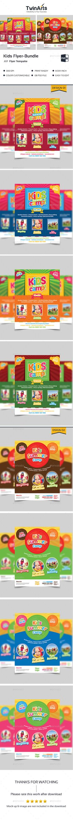 Kid Summer Camp Flyer  Flyer Printing Print Templates And Fonts
