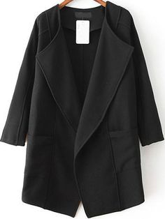 Shop Black Lapel Long Sleeve Asymmetrical Trench Coat online. Sheinside offers Black Lapel Long Sleeve Asymmetrical Trench Coat & more to fit your fashionable needs. Free Shipping Worldwide!