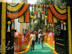 36 ideas for wedding backdrop reception indian stage decorations Desi Wedding Decor, Marriage Decoration, Wedding Stage Decorations, Flower Decorations, Backdrop Decorations, Diwali Decorations, Festival Decorations, Wedding Ideas, Wedding Pictures