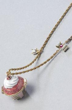 Betsey Johnson  The Tzarna Princess Cupcake Pendant Long Necklace