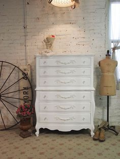 Painted Cottage White French Dresser CH18 by paintedcottages