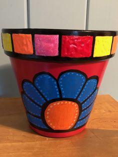 Flower Pot Art, Flower Pot Design, Flower Pot Crafts, Clay Pot Crafts, Painted Clay Pots, Painted Flower Pots, Ceramic Pots, Terracotta Pots, Pottery Painting Designs